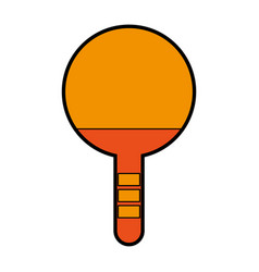 orange ping pong racket vector image
