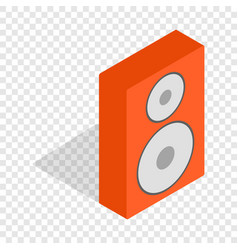 orange speaker isometric icon vector image
