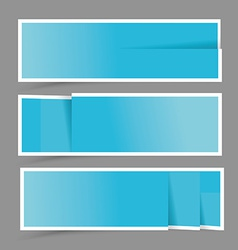 Paper design template for numbered bannerswebsite vector image