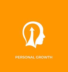 Personal growth self development icon vector
