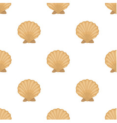 Prehistoric seashell icon in cartoon style vector
