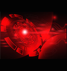 Red technology background abstract digital tech vector