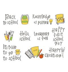 school lettering vector image