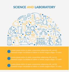 Scientific laboratory research creative poster vector