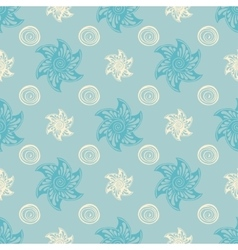 Sea seamless pattern blue background vector image