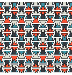 seamless abstract orange and blue print vector image