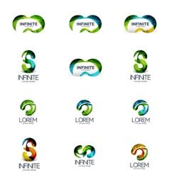 Set of infinity and loop company logos vector image