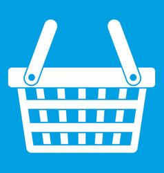 Shopping basket icon white vector