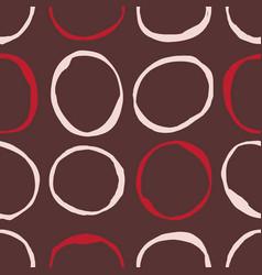 Sketchy circles seamless pattern vector