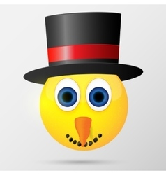 Snowman emoticon emoji smiley vector