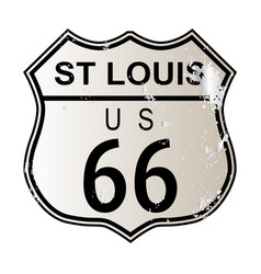 St louis route 66 sign vector