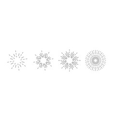 sunburst icon burst sunburst set linear style vector image