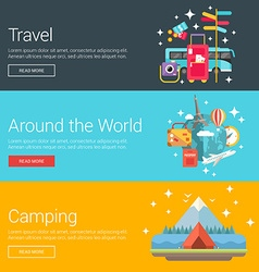 Travel Around the World Camping Flat Design vector