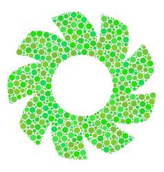 Turbine mosaic of dots vector