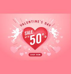 valentine day sale banner design template vector image
