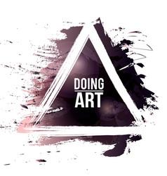 watercolor-grunge-black-doing-art vector image