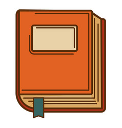 writing book isolated icon book with bookmark vector image