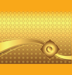 abstract golden lai thai background vector image