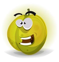 Comic funny plum character vector