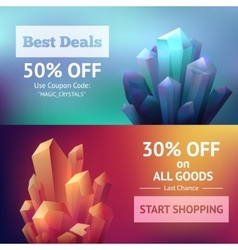 Crystal Mineral Banners vector image