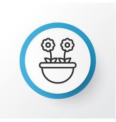 floret icon symbol premium quality isolated herb vector image