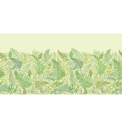 Green Fern Leaves Horizontal Seamless Pattern vector image vector image