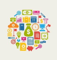 Business and Finance Objects vector image