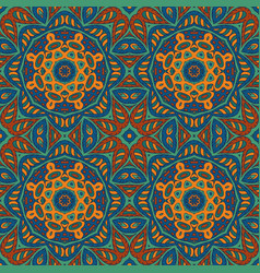 seamless pattern doodle ornament colorful vector image vector image