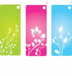 floral badges vector image vector image