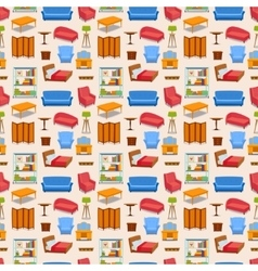 Furniture icons isolated vector image vector image