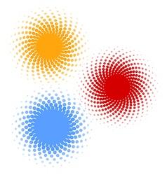 Halftones 3 vector image vector image