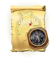 Map of treasure island vector