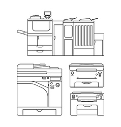 Outlines printer vector image vector image