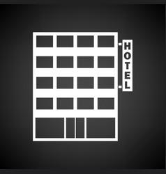 hotel building icon vector image