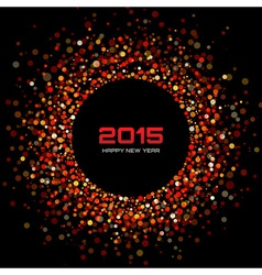 Red Bright New Year 2015 Background vector image vector image