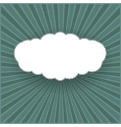 Vintage background with form of a cloud vector image