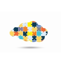 abstract cloud puzzle pieces vector image