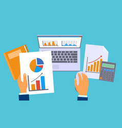 accounting work graph concept background flat vector image