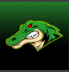 alligator sport mascot logo design vector image
