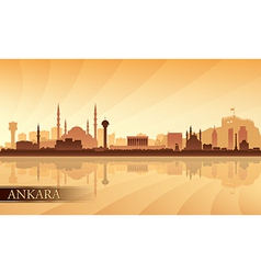Ankara city skyline silhouette background vector