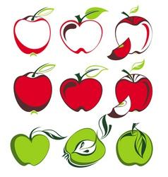 apple set vector image