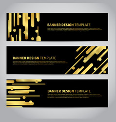 Banner covers with gold geometric pattern vector