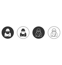 Black socrates icon isolated on white background vector