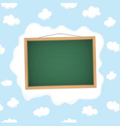Blackboard hangs on a cloud vector