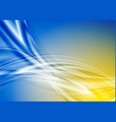 Blue and yellow abstract smooth waves background vector