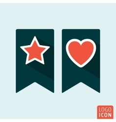 Bookmark icon set vector