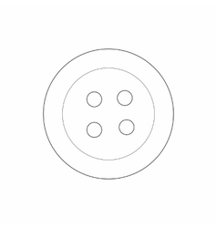 Button icon outline style vector image