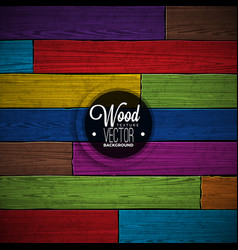 Color painted wood texture background design vector