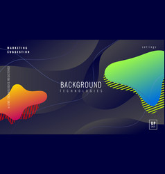 colorful dynamic geometric background fluid vector image