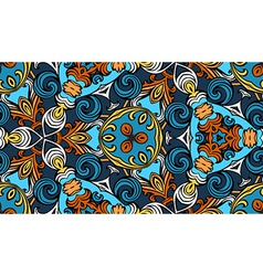 Colourful vintage seamless pattern vector